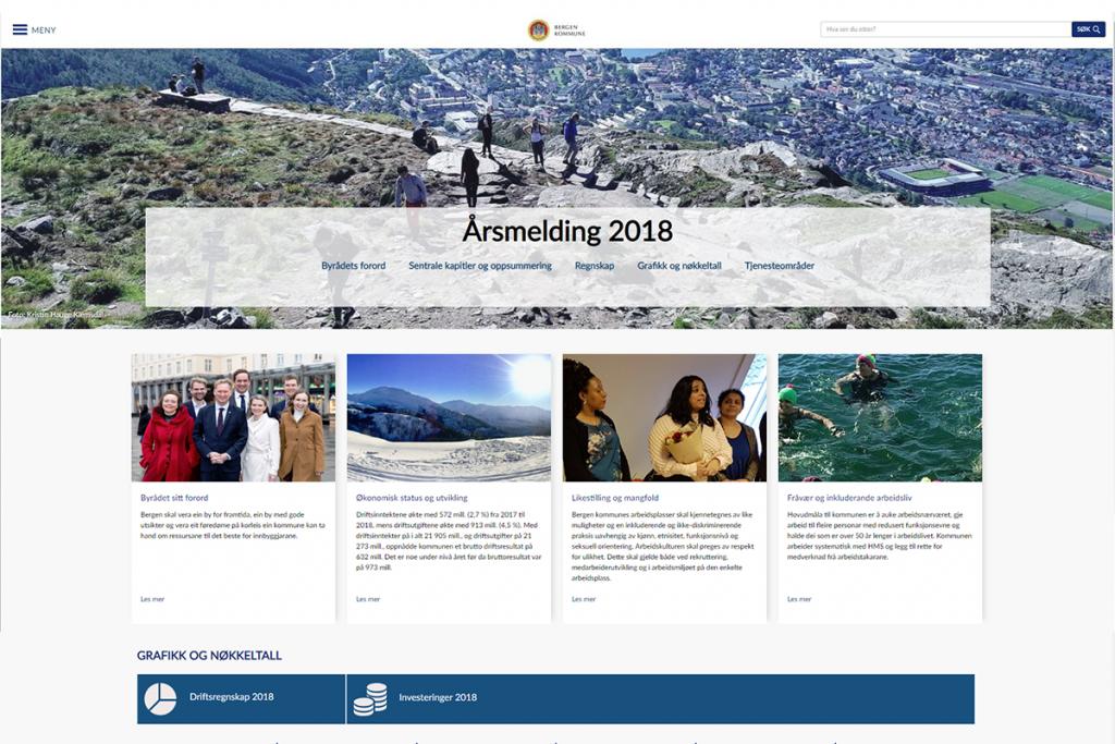 Digital årsrapport, Bergen